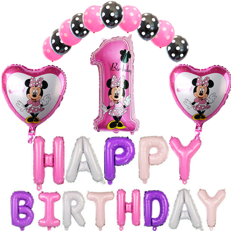 9 Year Old Birthday Party Ideas Themes 1 Artist S Source 26pcs Mickey Minnie Digital Letter Set Aluminum Balloon