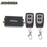 JINSHENGDA 220V 10A Relay 1CH RF Wireless Remote Control Switch Transmitter 2 Receiver Kit