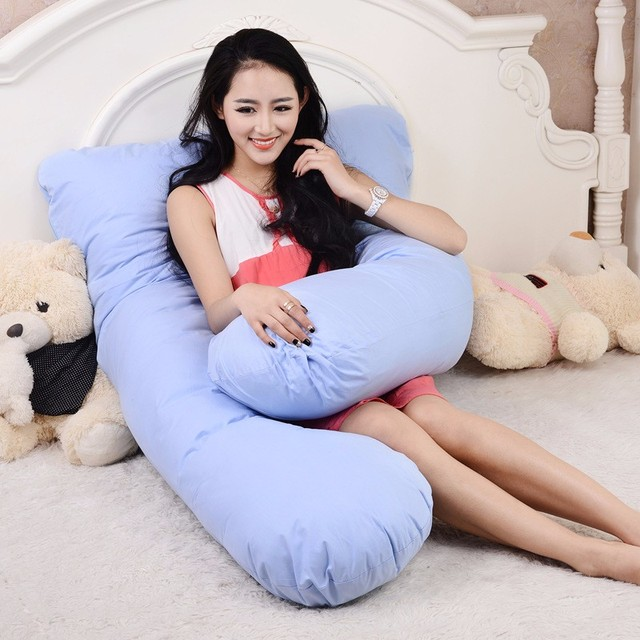100% Cotton Comfort U Shape Full Body Pillow Pregnancy Maternity Pillows Multifunctional Cushion Baby sitting Pillow Fense