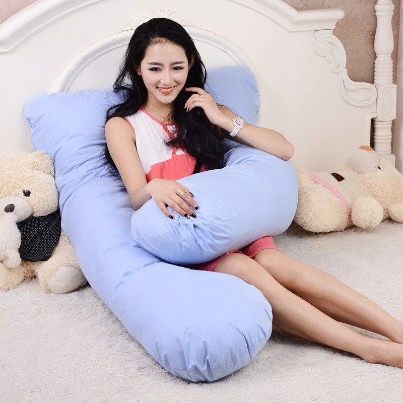 100% Cotton U Shape Full Body Pillow Pregnancy Maternity Sleep Pillows  Sleeping Knee Back Hip Joint Sciatica Pain Relief Cushion-in Body Pillows  from Home ... 4266ae95e