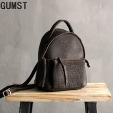 Маленький женский рюкзак gumst из 2019 натуральной кожи Высококачественная