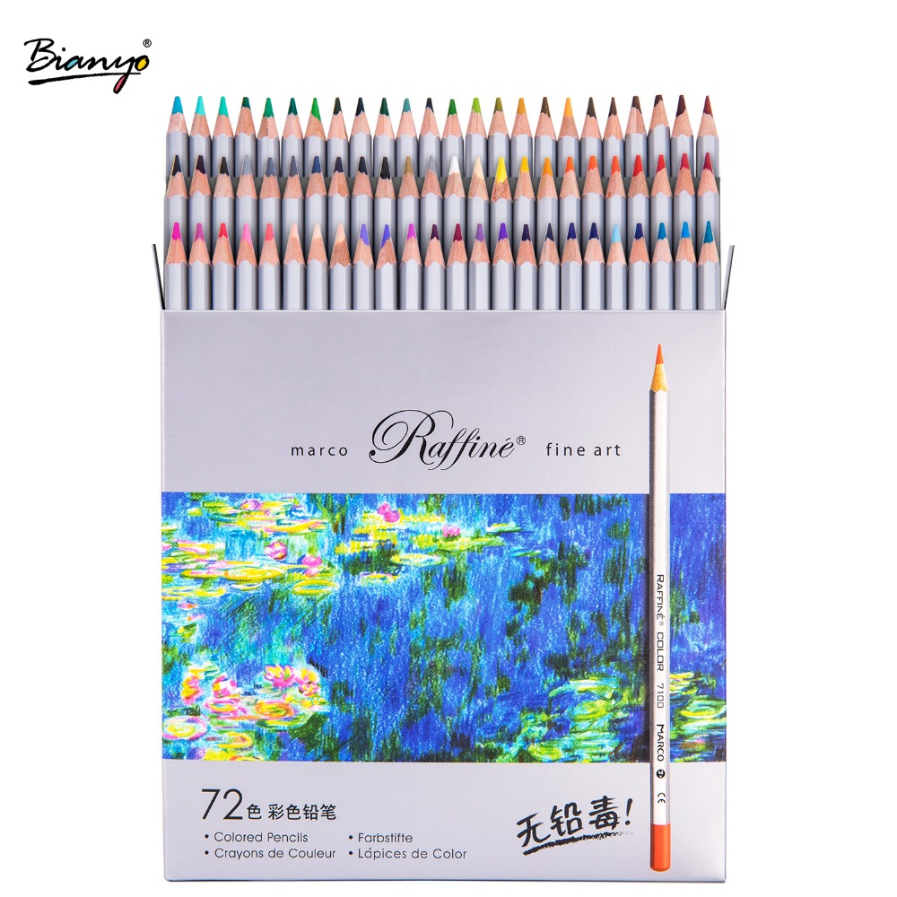 Marco Raffine 24/36/48/72Colors Non-toxic Color Pencil lapis de cor Professional Colored Pencils for School Supplies Wholesale