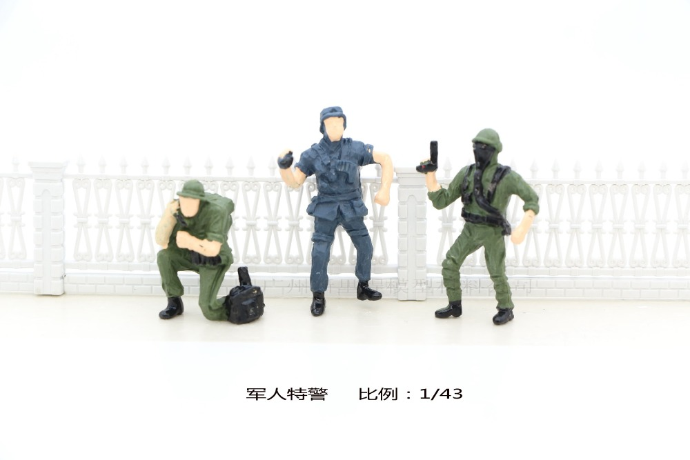 1/75-1/43 Model Figures Are Police Combat Soldiers Military Sand Table Layout Oda Players