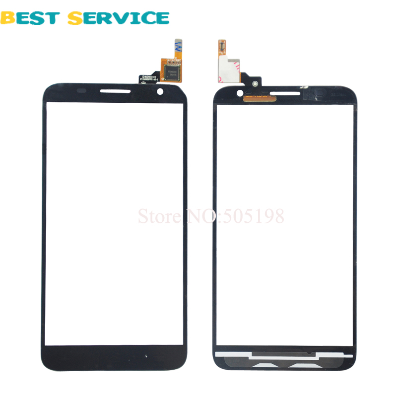For Alcatel One Touch Idol 2 <font><b>S</b></font> 2S <font><b>OT</b></font> 6050 6050Y Touch Screen Digitizer Replacement Black White Color Free Shiping