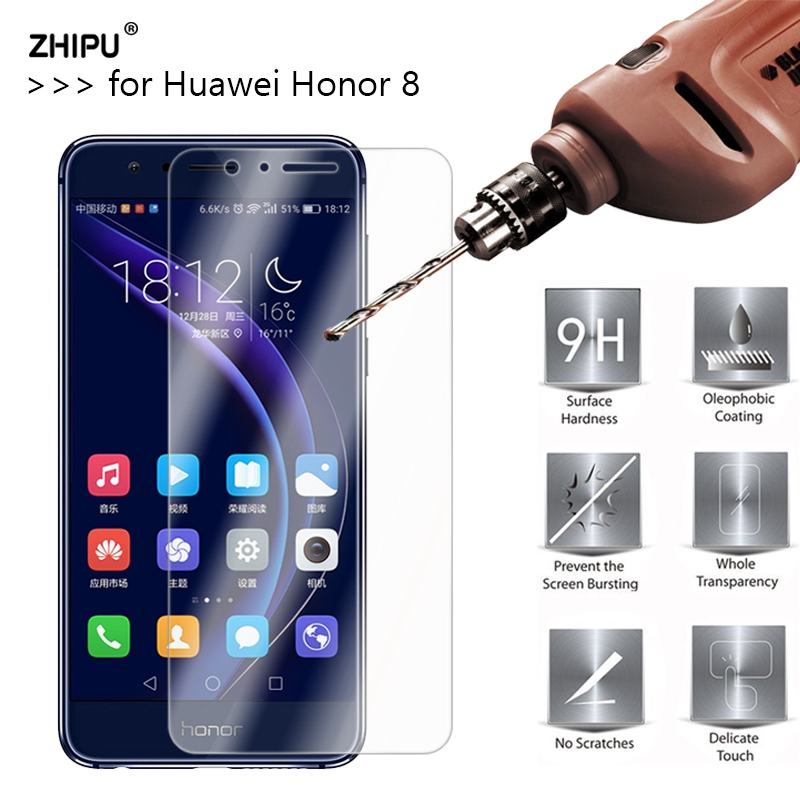2.5D 0.26Mm 9H Premium Tempered Glass For Huawei Honor eight Display screen Protector Protecting Movie For Huawei Honor eight Glass