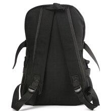 Men Vintage Canvas Backpack Rucksack Satchel Hiking Bag Outdoor Bag Black