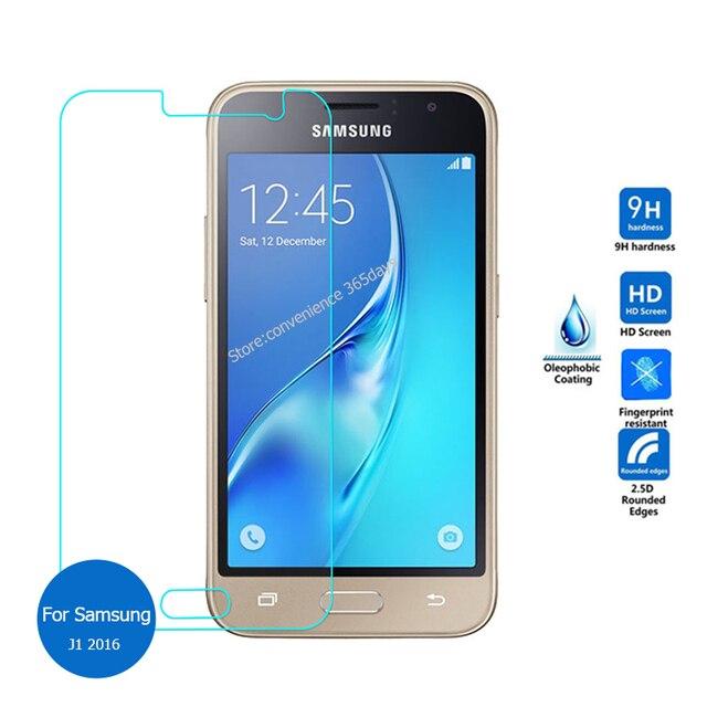 2PCS Für Samsung Galaxy J1 2016 Gehärtetem Glas Bildschirm Prtotector 9h Sicherheit Schutz Film Auf J 1 6 120F J120 J120F SM-J120F