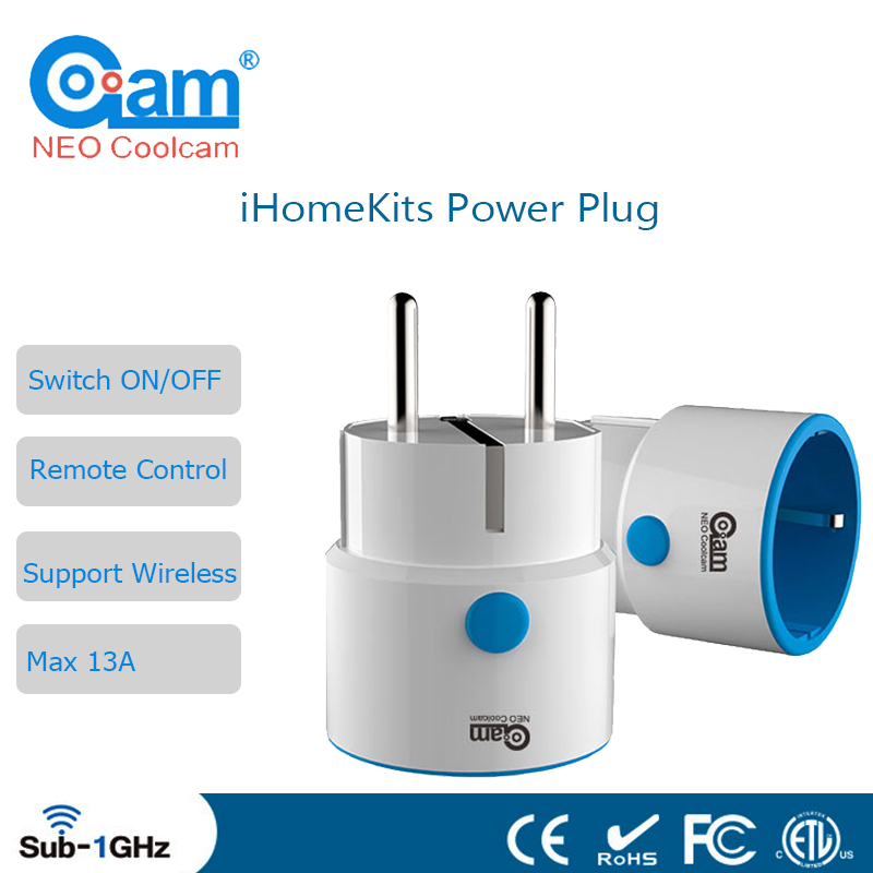 NEO Coolcam iHome Kits NAS-WR01T Wireless Alarm System Power Plug For Home Security EU Remote Control Appliance Power ON/OFF