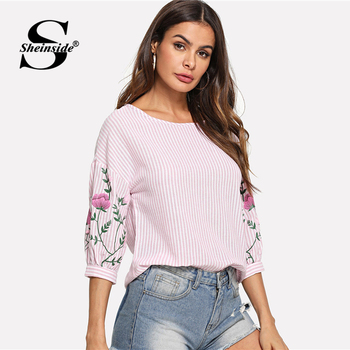 Sheinside Pink Summer Tops For Women Clothes 1