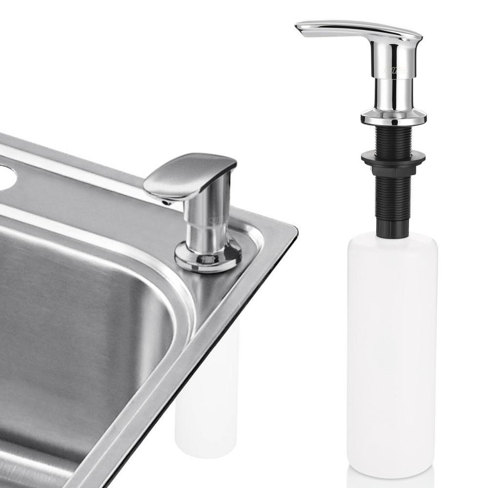 Ledeme Flüssigkeit Seife Spender Deck Montiert Hand Seife Dispenser Chrome Flüssigkeit Seife Flasche Küche Bad Zubehör L405-2 Liquid Seifenspender
