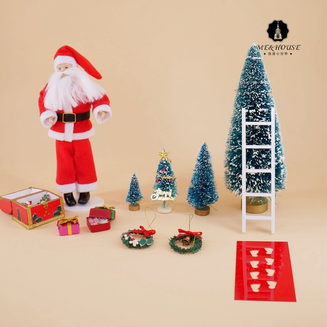 Dollhouse Christmas Accessories Mini Christmas Tree Dolls Xmas