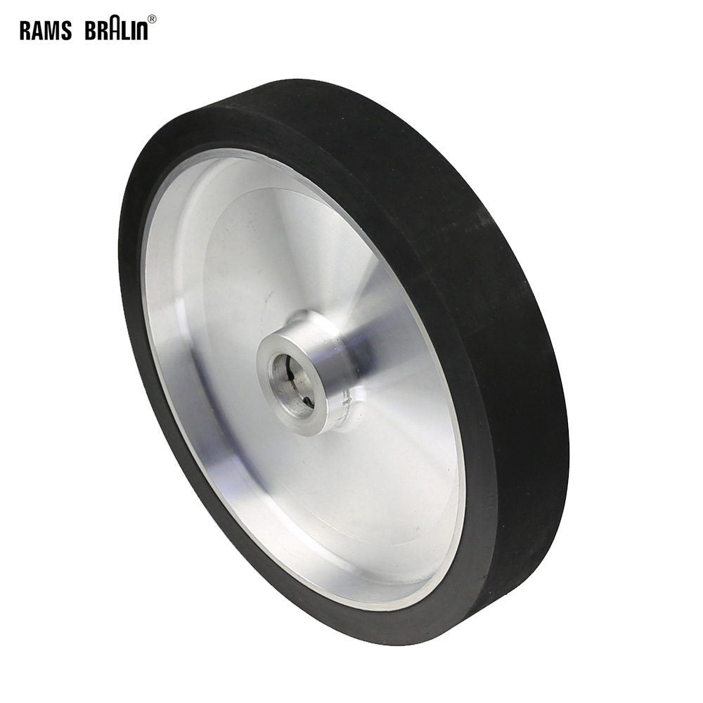 300*50mm Solid Belt Grinder Contact Wheel  Dynamically Balanced Rubber Polishing Wheel Abrasive Sanding Belt Set