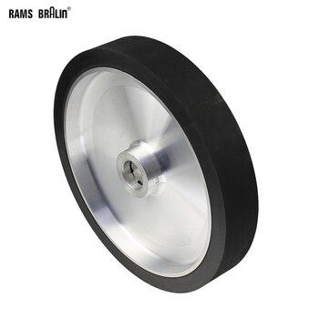 300*50mm Solide Gürtel Grinder Kontaktieren Rad Dynamisch Ausgewogene Gummi Polieren Rad Schleif Schleifen Gürtel Set