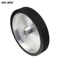 300*50mm molinillo de cinturón sólido rueda de contacto balancada dinámica rueda de pulido de goma abrasivo conjunto de cinturón de lijado