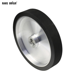 300*50mm solide meuleuse à bande roue de Contact dynamiquement équilibré en caoutchouc roue de polissage abrasif ponçage ceinture ensemble