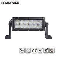 ECAHAYAKU 7INCH DUAL LED LIGHT BAR 5D 5W CHIP 60W SPOT FLOOD FOR OFFROAD 4WD TRUCKS BOAT UTE PICKUP ATV 12V 24V DC CAR ACCESSORY