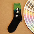 Women Warm Socks spring Socks 1 Pair Fashion Vintage Painting Art Socks Funny Novelty Comfortable Breathable Socks M0519