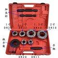 BSPT Durável 1/2,3/4, 1.2, 1 polegada segmentação manual da máquina, manual da máquina de threading parafuso da dobradiça, equipamentos de ferro pipe threader