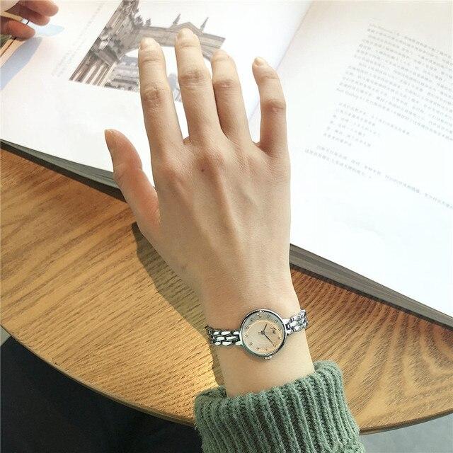 Top brand luxury bracelet watches for women 2018 women's fashion stainless steel quartz watch simple diamond ladies wristwatches
