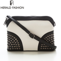 Rivet Shoulder Women Bag Vintage Scrub Shell Messenger Bags Chain Strap Crossbody Bag Clutch Bolsa Feminina