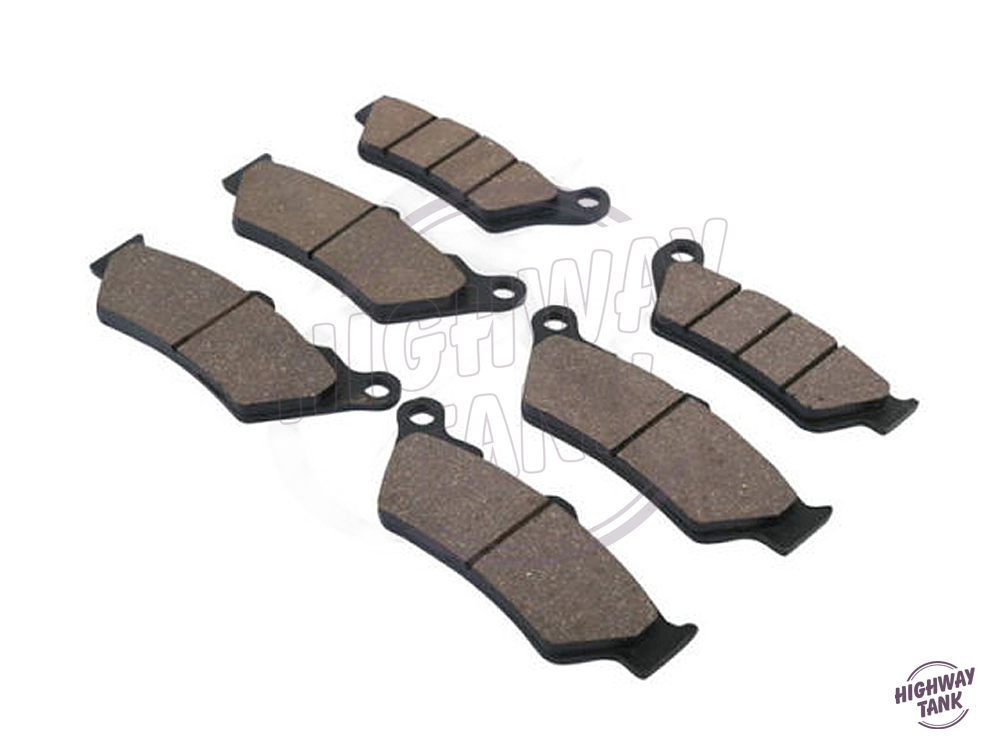 6 pcs Semi-Metallic Motorcycle Brake Disks Front & Rear Disc Brake Pads case for KTM ADVENTURE 990 990R 2008- free shipping
