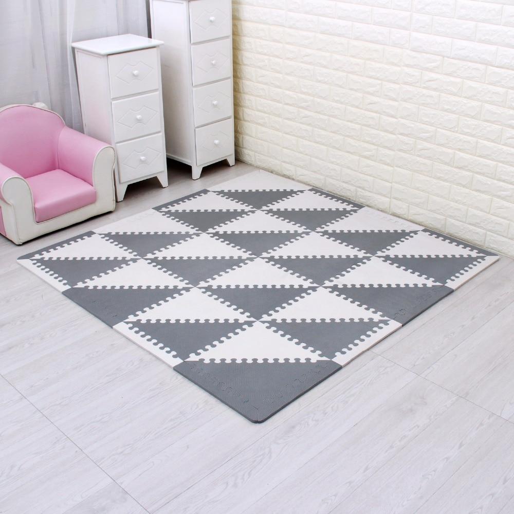 Tapis de jeu angulaire solide eva pour bébé tapis de puzzle en mousse eva pour enfants tapis de sol en tuiles d'exercice à emboîtement 35 cm