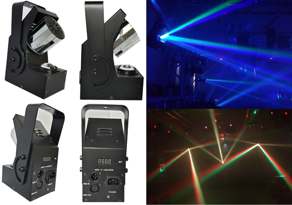 2xLot Factory Price 10W 4in1 RGBW Mini Led Roller Scanner Beam Light DMX512 Laser Stage Lighting DJ Disco Party Effect Lights
