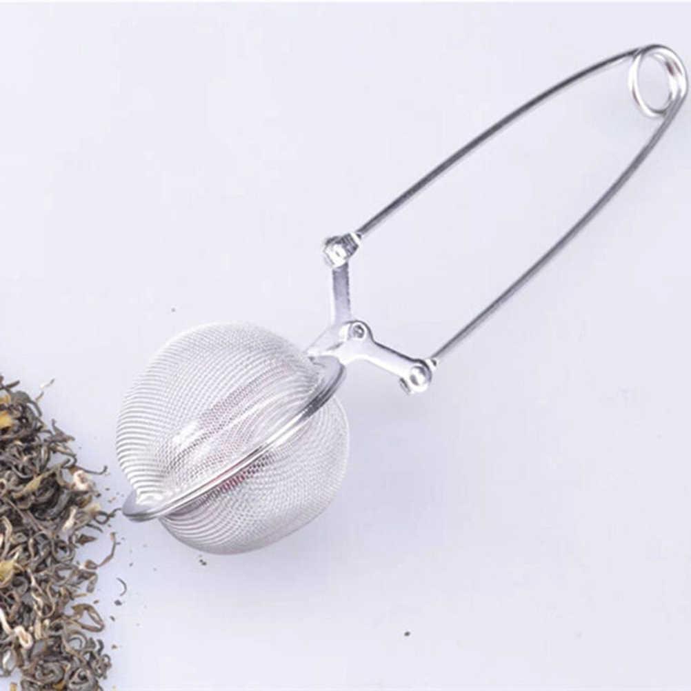 4.5 cm/1.77 Diâmetro Conveniente Punho de Aço Inoxidável Chá Infusor de Chá Coador de Chá de Malha Filtro Bola Estável Forte