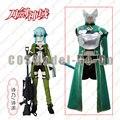Sword Art Online 2 Sinon SAO Cosplay Costume Halloween costume for adult