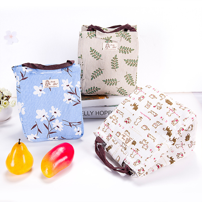 Heat Preservation Lunch Boxes Bags Snacks Fresh Food Insulated Fashion Lunch Bags lunch bag for kids or Students 3 color