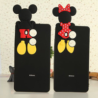 2016 Cartoon 3D Minnie Mickey Mouse Back Head Soft Silicone Phone Back Cover Case For Huawei