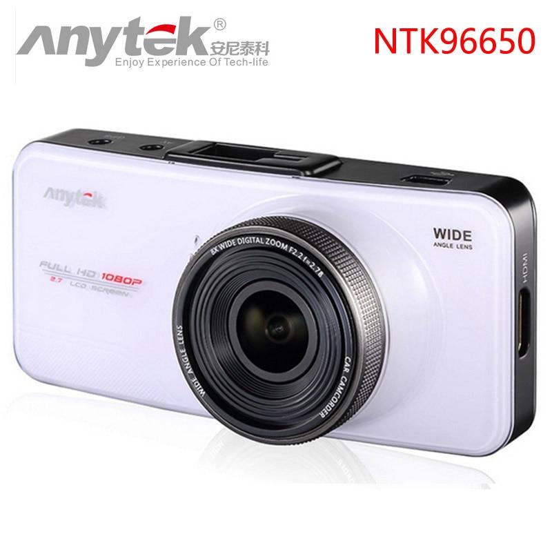 Anytek Car DVR AT66A full HD Novatek 96650 Car Camera Recorder Black Box 170Degree 6G Lens Supper Night Vision Dash Cam anytek car dvr a100 novatek 96650 car camera ar0330 1080p wdr parking monitor night vision black box