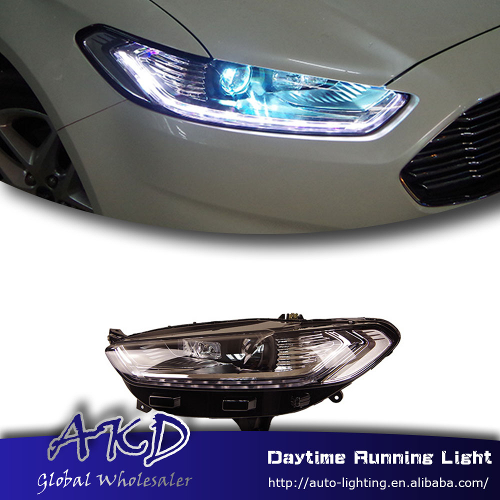 Akd car styling led headlight for ford mondeo fusion headlamp for mondeo fusion 2013 2016