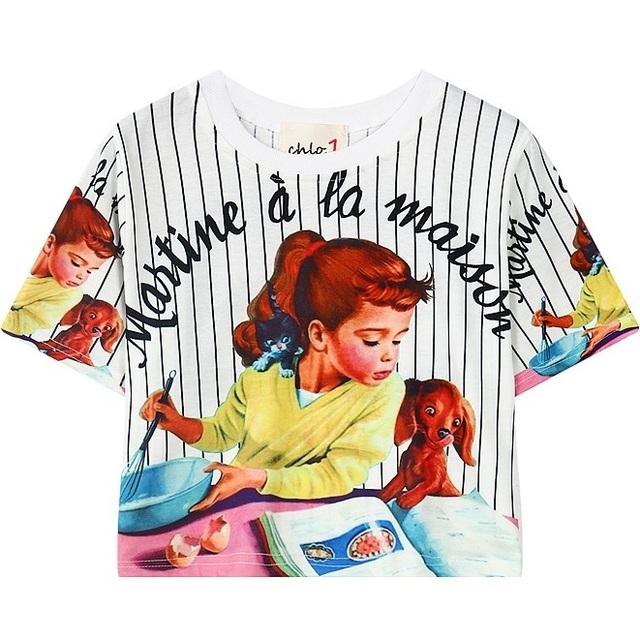 Mujeres Recortada Tee Top 2016 Diseño Lindo de La Historieta Corta de Rayas camiseta para Mujer Casual Camiseta Mujer Camiseta de La Manera Negro blanco