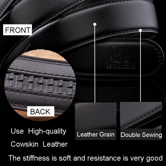 2017 New men's Fashion geniune leather mens belts for men luxury brand designer belts for male Top quality strap free shipping