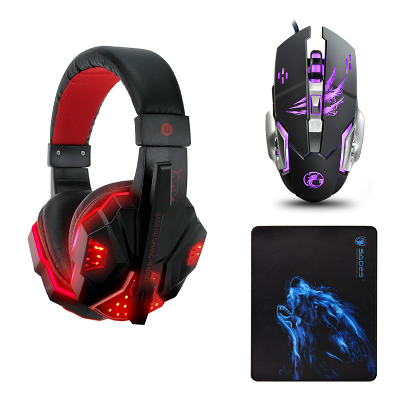 Best casque Computer Stereo Gaming Headphones Deep Bass Game Earphone Headset Gamer with Microphone Mic LED Light for PC Game ttlife wired gaming headphones computer 3d stereo new best casque deep bass game headsets with mic pc gamer usb for led light