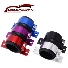 SPEEDWOW Aluminum 50mm Single Fuel Pump Bracket / Filter