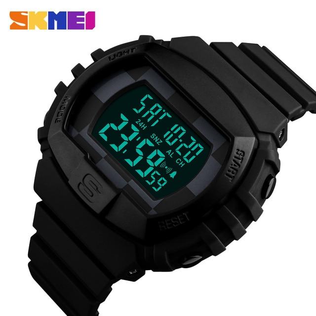 SKMEI Brand Men s Fashion Sport Watches Chrono Countdown Men Waterproof  Digital Watch Man military Clock Relogio d66785c707