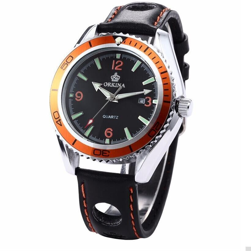 Gear Shape Modern Hollow Leather Band Strap Wrist Watch Cool Black Dial Dress Quartz Gift Day Date Analog Stainless Steel Case luxury black dial auto 6 hands date day tourbillion analog stainless full steel band wrist dress mens mechanical watch