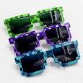 3 Colores Minecraft Gafas Niños Cosplay Figura de Acción Juguetes Juegos Gafas Cuadradas de Regalos para Los Niños Brinquedos # E
