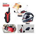 Free shipping! X3 Plus Bluetooth BT Motorcycle motorbike Helmet 1.5-3KM Intercom interphone Headset IP54 waterproof