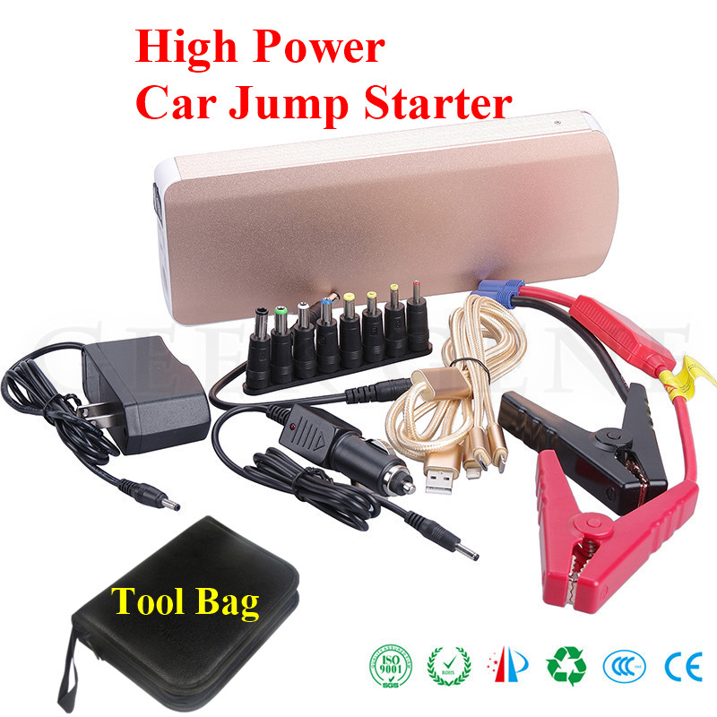2018 Multifunktions 18000 mAh Auto Starthilfe 800A Spitzen Auto Ladegerät Für Autobatterie Booster 2USB 2 Laptop Energienbank Auto Starter