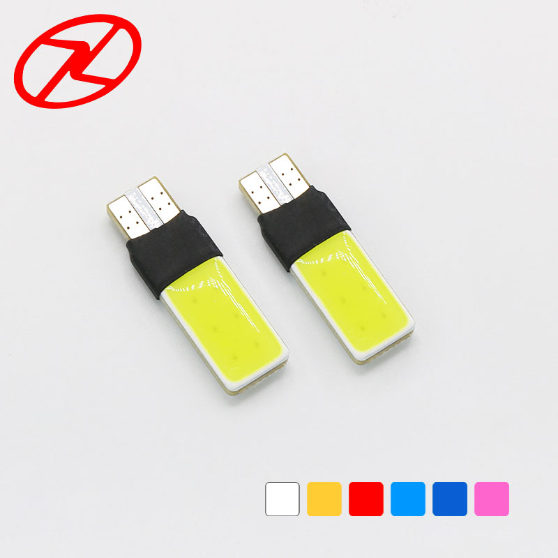 10PCS T10 <font><b>W5W</b></font> 194 168 <font><b>LED</b></font> <font><b>COB</b></font> Canbus Side Wedge Light High Power Auto Car Parking Lamp Bulb 7 colors image
