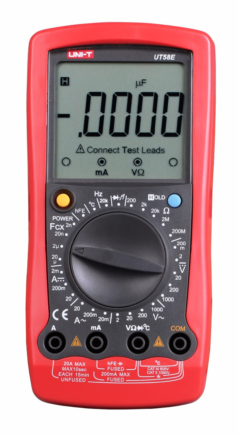 Digital Multimeter UT58E 4 1/2 Multimeters range W/ frequency temperature test ammeter Multitest same functionality as Fluke 233 my68 handheld auto range digital multimeter dmm w capacitance frequency