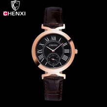 CHENXI 2017 Rose Gold Wrist Watch Women Lady Brand Luxury Famous Golden Quartz Watch Female Clock Relogio Feminino Montre Femme