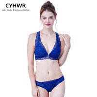 CYHWR 2017 Underwear Women Brand Sexy Bra Comfortable Breathable Lace Sexy Floral Decoration Front Closure Bra