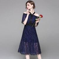 Korean Style Casual Pure Color Lace Hanging Neck Dress Kawaii Zanzea Plus Size Women Lady Dress