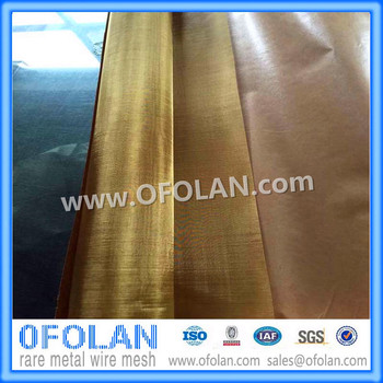 High-quality EMI / EMF / RF Shielding Brass Wire Mesh(150 mesh) 500mmX1000mmX2PCS stock supply