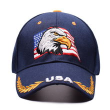 Black Cap USA Flag Eagle Embroidery Baseball Snapback Caps Casquette Hats Fitted Casual Gorras Dad For Men Women
