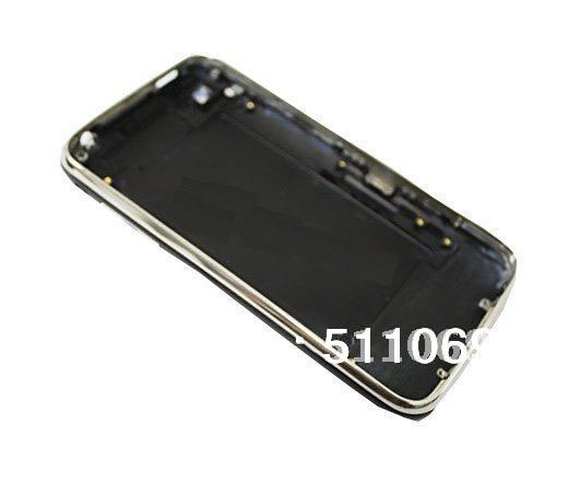 For iPhone 3G Black Back Cover Housing with Chrome Bezel Frame by free shipping
